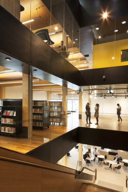 Docklands Library architecture, designed by Clare Design