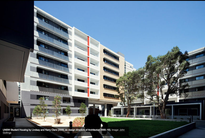 UNSW student housing architecture