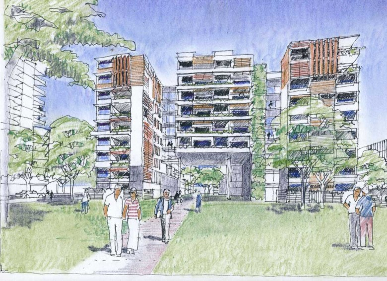 Yeerongpilly Green architecture plans