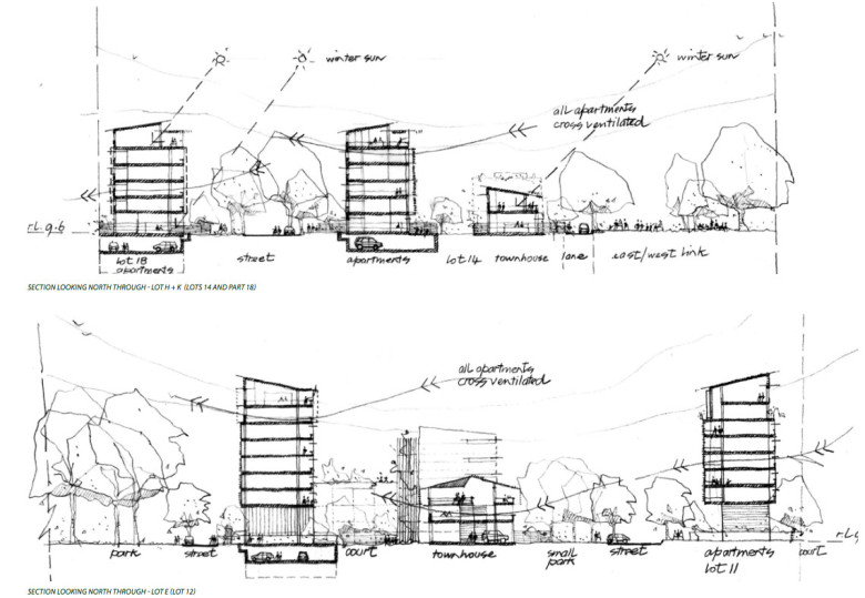 Yeerongpilly Green architectural plans