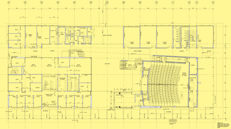 USC architectural drawings