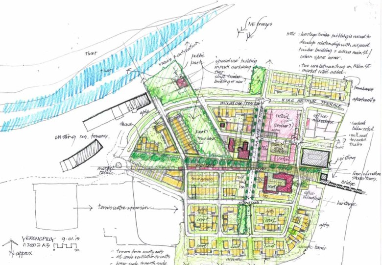 Plans for Yeerongpilly Green